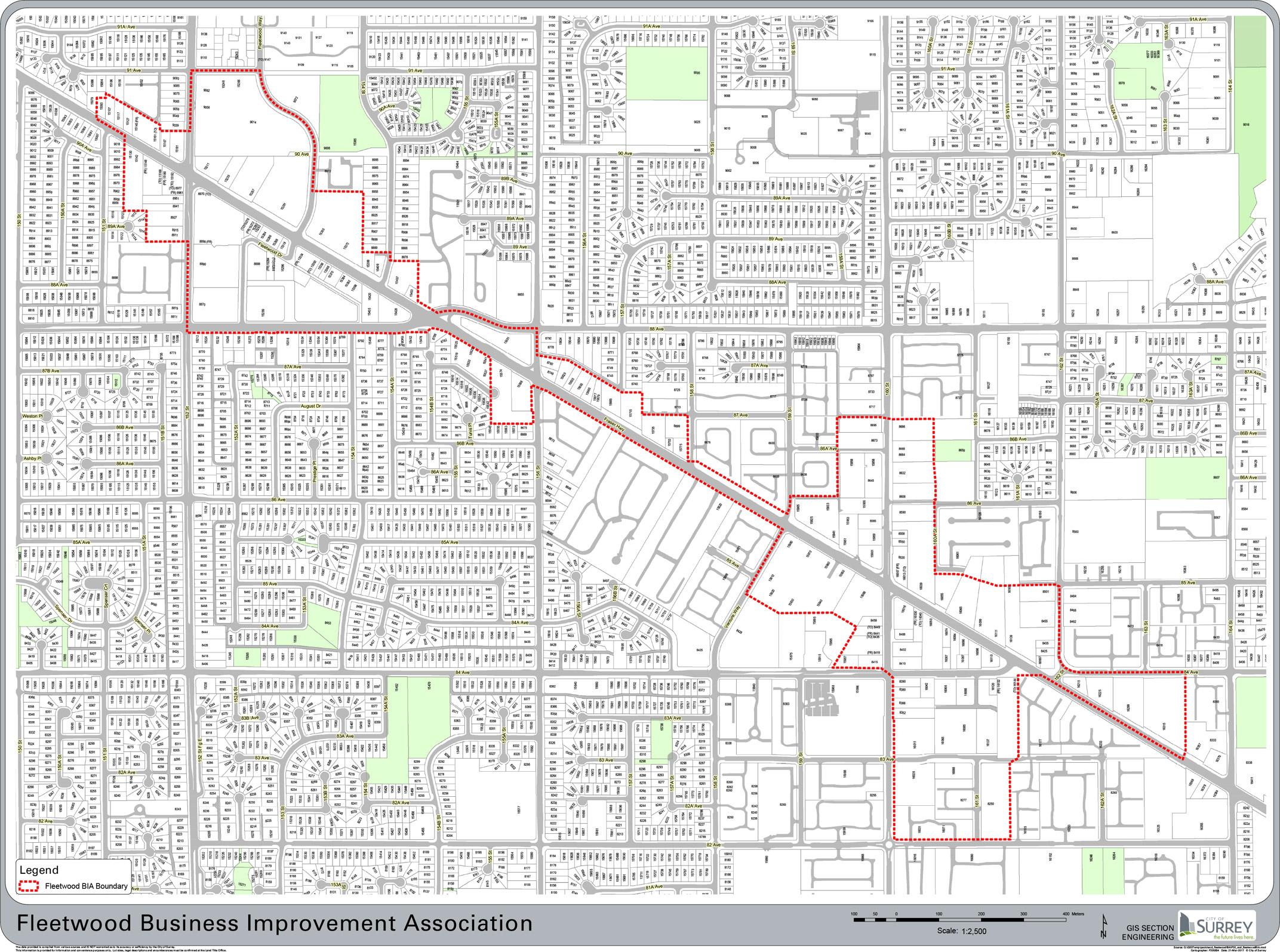 fleetwood catchment map